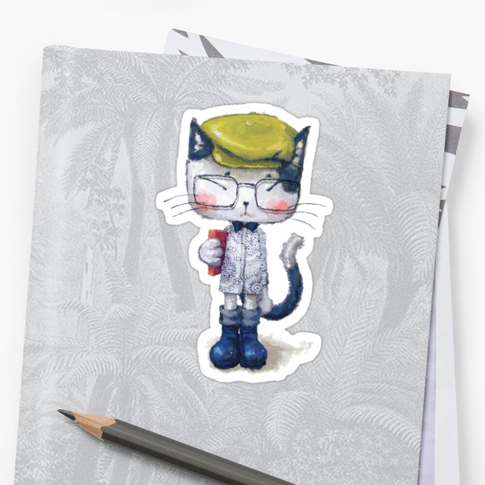 Cat Man - Literary Youth 1 Sticker