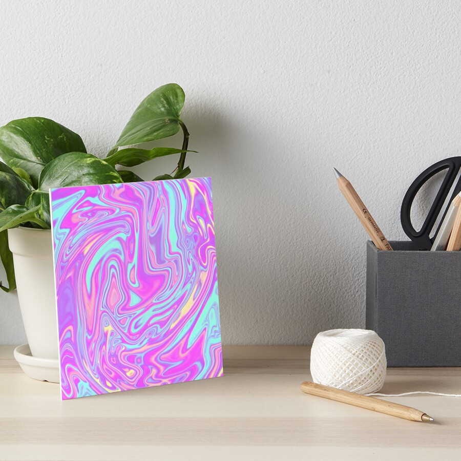 Liquid Rainbow Art Board Print