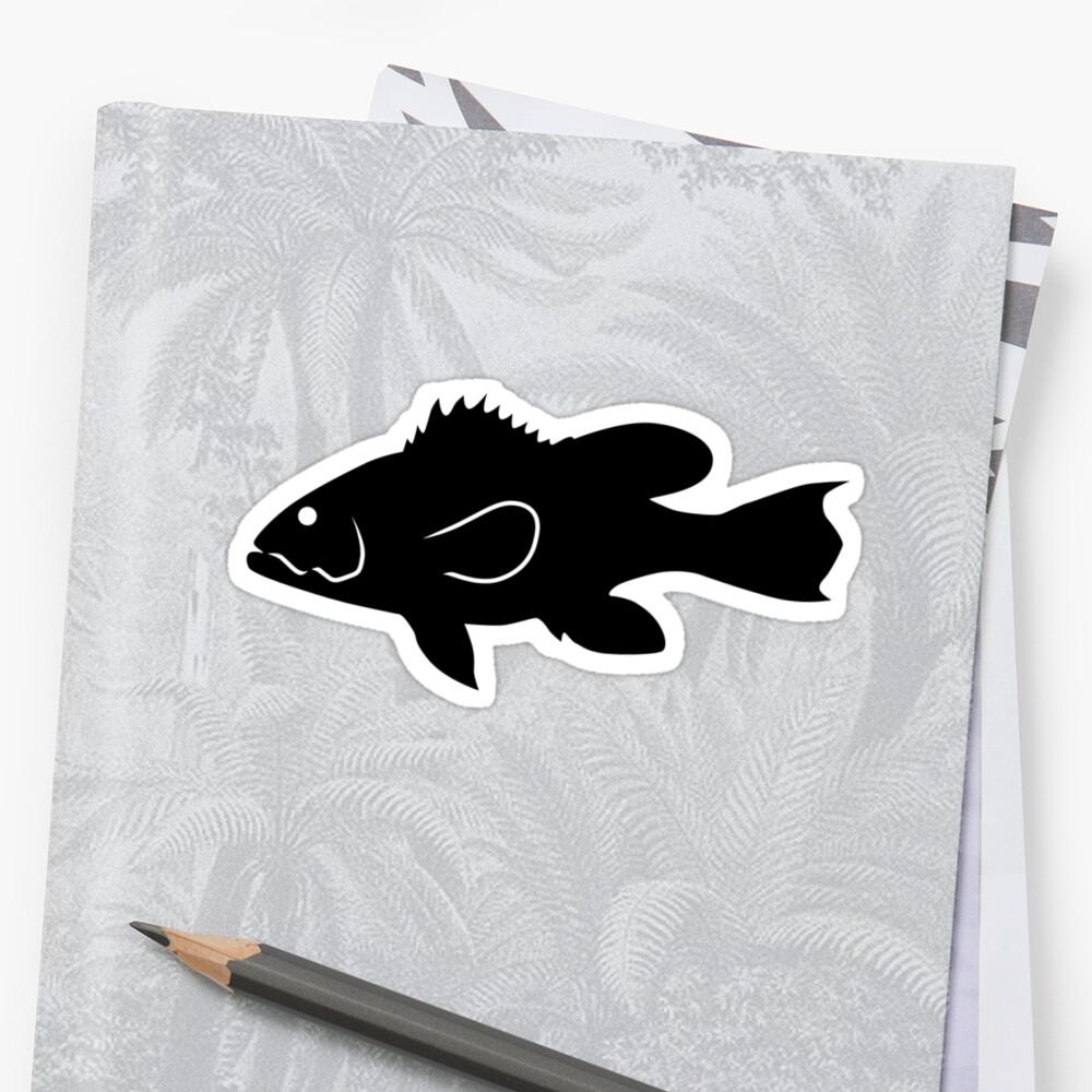 Black Sea Bass Fish Silhouette By IDrawSilhouettes On Redbubble