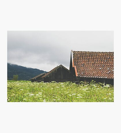 Three Bavarian Barns Photographic Print