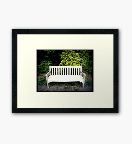 A Day At The Arboretum #5 - Take A Seat Framed Print
