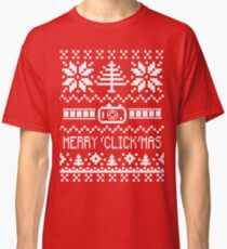 Ugly Christmas Sweater - Camera / Merry 'Click'Mas Classic T-Shirt