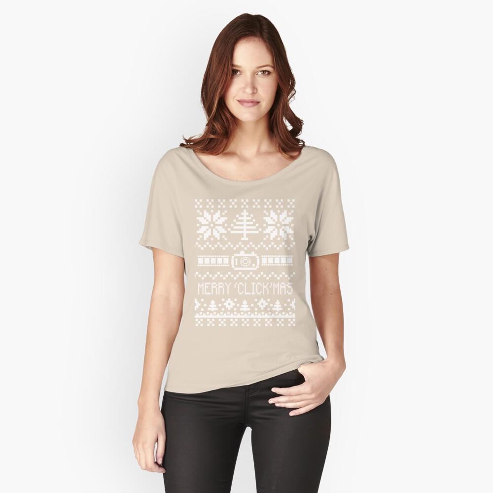 Hässlicher Weihnachtsstrickjacke - Kamera / Merry 'Click'Mas Loose Fit T-Shirt