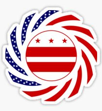 DC Murican Patriot Flag Series Sticker