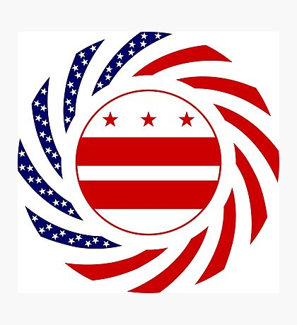 DC Murican Patriot Flag Series Photographic Print