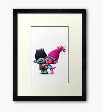 Poppy and Branch Framed Print