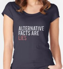 Alternative Facts are Lies | Trump Women's Fitted Scoop T-Shirt