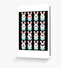Bunny Easter Egg Emoji Different Facial Expression Greeting Card