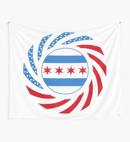 Chicago Murican Patriot Flag Series Wall Tapestry