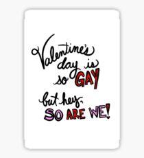 Gay Valentine Sticker