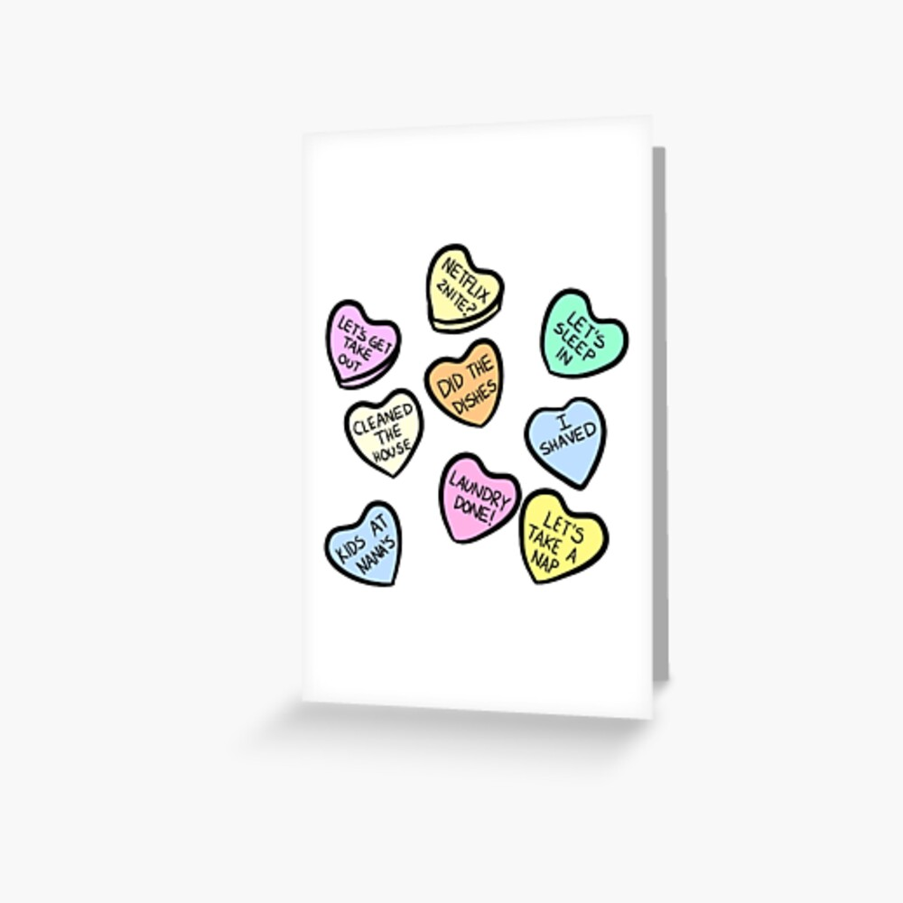 Marriage Candy Hearts Greeting Card