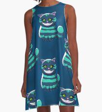 blue Cheshire Cat A-Line Dress