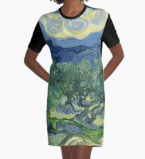 The Olive Trees by Vincent van Gogh Graphic T-Shirt Dress
