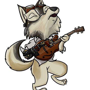 Mandolin Fox by Steampoweredfox