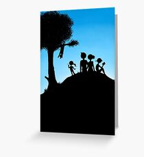 Peaceful Family Outing Greeting Card
