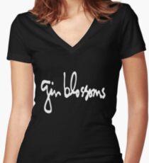 GB Logo Women's Fitted V-Neck T-Shirt