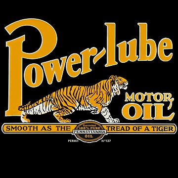 Power Lube Motor Oil Shirt by PumpingGas