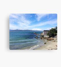 Scorching Bay Coast Canvas Print