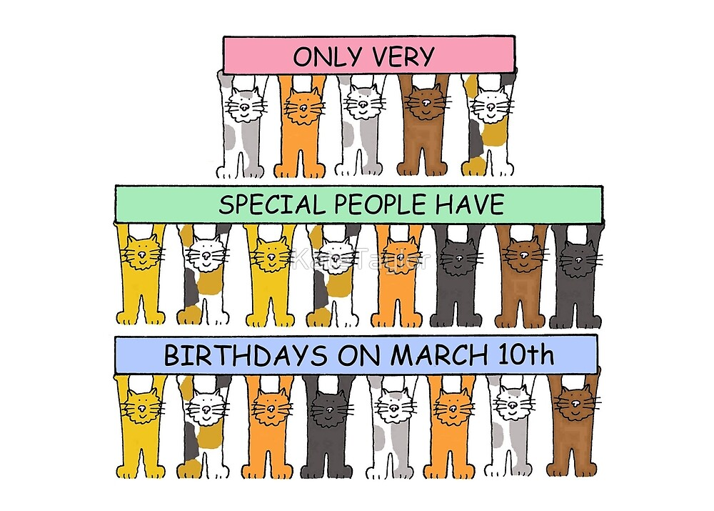 March 10th Birthday Cats. by KateTaylor