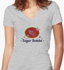 Sugar Bombs Women's Fitted V-Neck T-Shirt