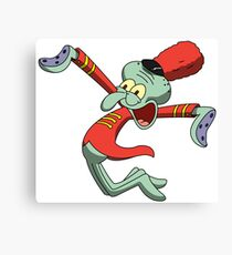 Marching Band Squidward Canvas Print