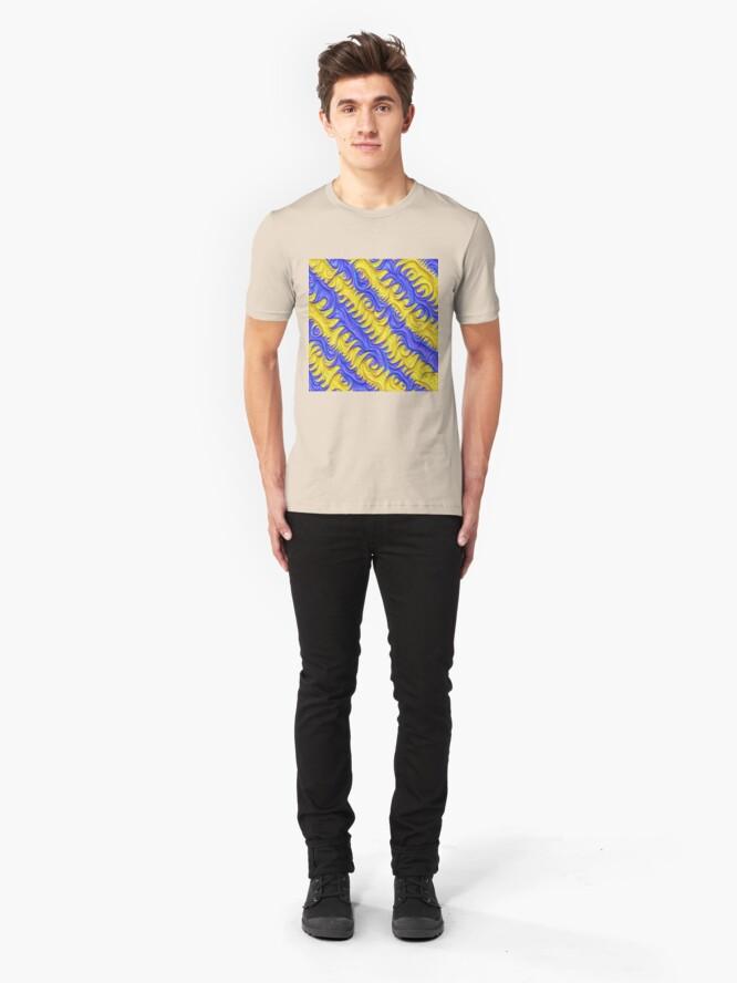 Alternate view of Frozen frequencies #DeepDream #Art Slim Fit T-Shirt