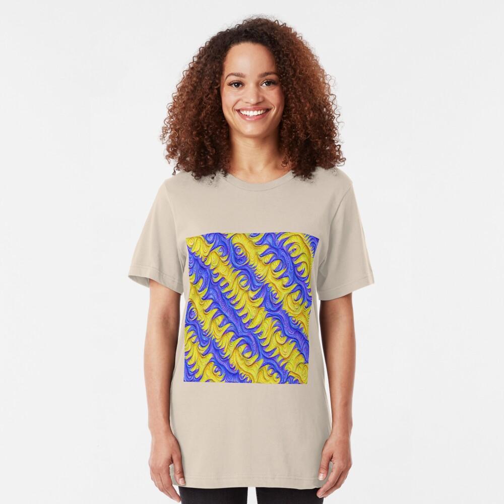 Frozen frequencies #DeepDream #Art Slim Fit T-Shirt