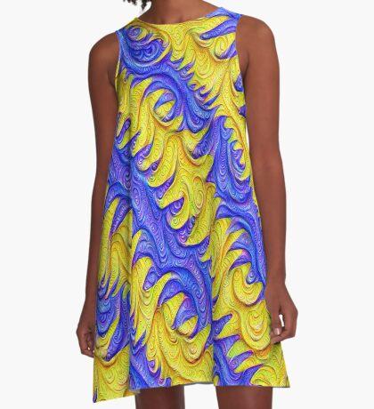 Frozen frequencies #DeepDream #Art A-Line Dress