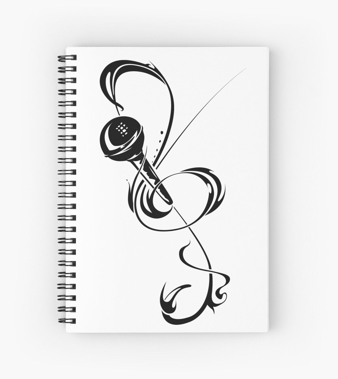 Treble clef / mic by morning light