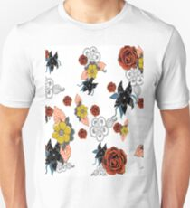 Floral Print with roses and mud cloth flowers T-Shirt