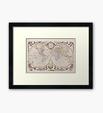 World Map 1782 Framed Print