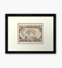 World Map 1681 Framed Print
