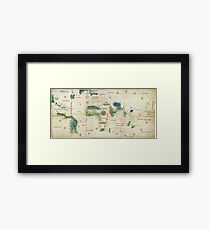 World Map 1502 Framed Print