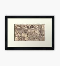 World Map 1507 Framed Print