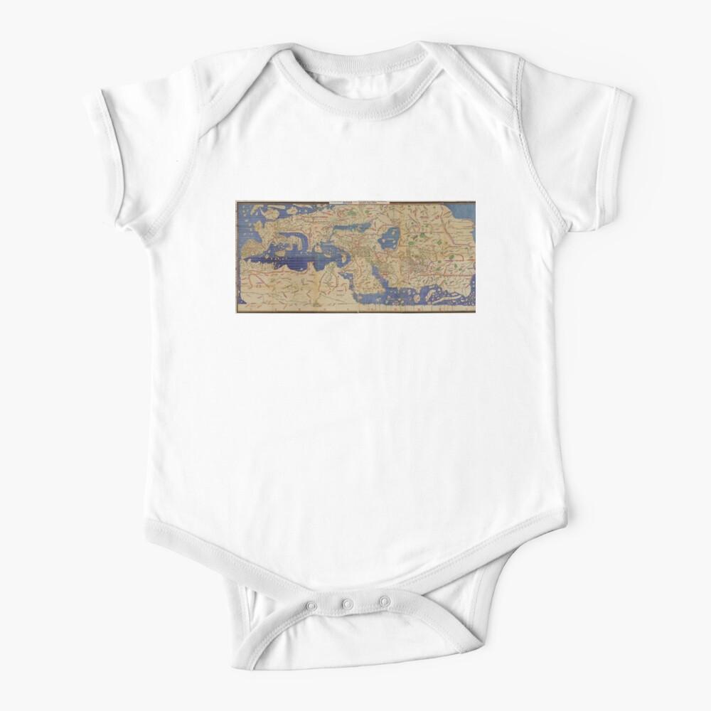 World Map 1154 Baby One-Piece