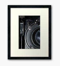 retro camera lens close-up Framed Print