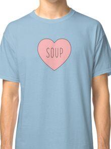 I Love Soup Heart   Food Hearts Pink Black Print Classic T-Shirt
