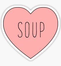 I Love Soup Heart | Food Hearts Pink Black Print Sticker