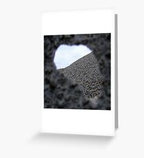 Hole in fence Greeting Card