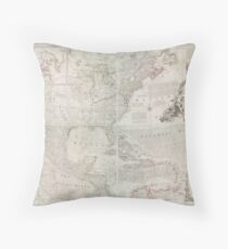 North America 1763 Throw Pillow