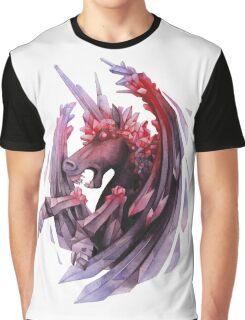 Watercolor crystallizing demonic horse Graphic T-Shirt