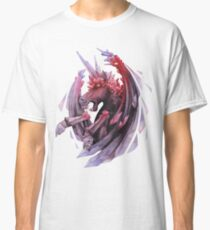 Watercolor crystallizing demonic horse Classic T-Shirt