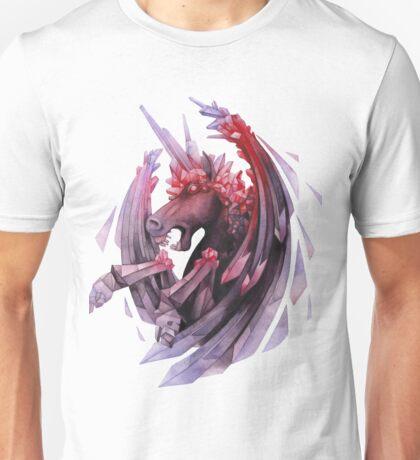Watercolor crystallizing demonic horse Unisex T-Shirt