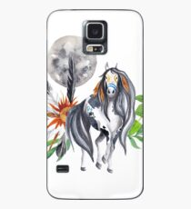 Native American Horse Feathers Collage Case/Skin for Samsung Galaxy