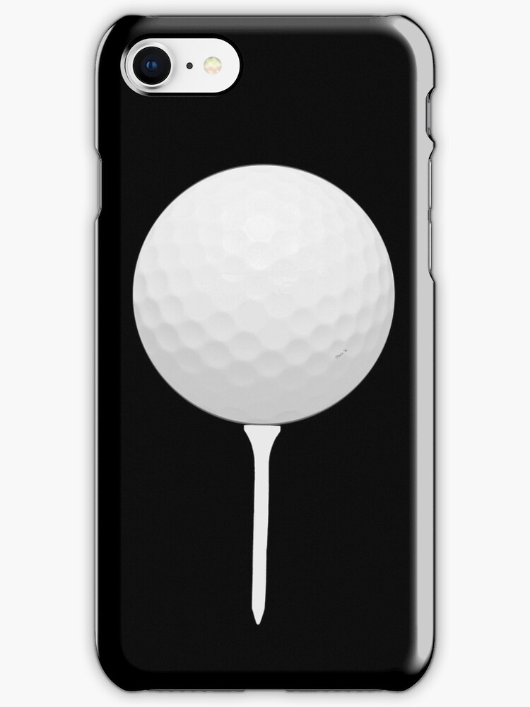 Golf Ball On Tee Iphone Case Cover By Pharrisart Redbubble