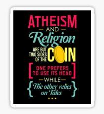Atheism and Religion Sticker