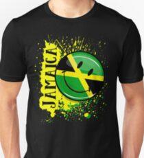 A Splash of Jamaica Smiling Jamaican Flag Unisex T-Shirt