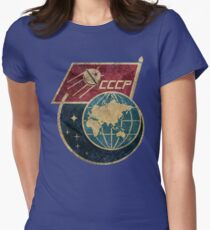 CCCP Flag Satellite Womens Fitted T-Shirt