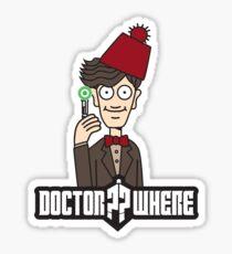 Doctor Where Sticker