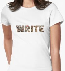 WRITE (word in books) Womens Fitted T-Shirt